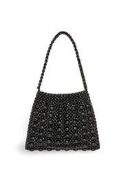 Black Mira Beaded Shoulder Bag by Loeffler Randall