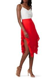 Ruffle Midi Skirt by krisa