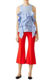 Blue Rowe Ruffle Top by Acler
