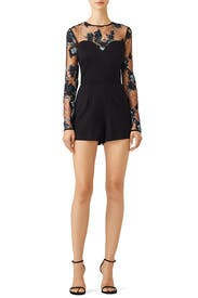Floral Lace Romper by Amanda Uprichard