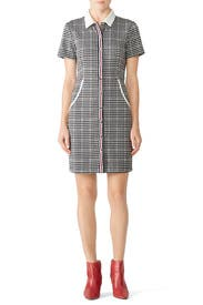 Contrast Check Shirtdress by Slate & Willow