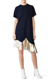 Metallic Hem Dress by Clu