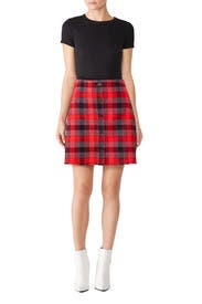 Plaid Mini Skirt by Derek Lam 10 Crosby