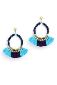 Navy Ruthie Earrings by Area Stars