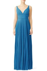 Turquoise Hudson Gown by Laundry by Shelli Segal