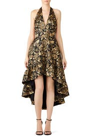 Black and Gold Dress by Nicole Miller