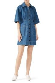 Peper Denim Shirt Dress by Sea New York