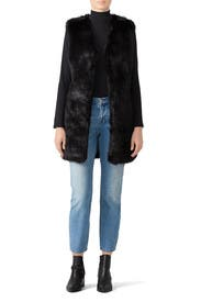 Jessi Faux Fur Vest by RAGA