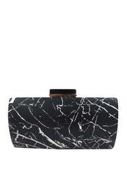 Black Marble Minaudiere by Sondra Roberts