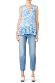 Floral Gramercy Top by Lilly Pulitzer