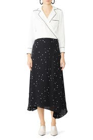 Stargazer Asymmetric Skirt by Tory Burch