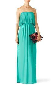 Green Linda Gown by BCBGMAXAZRIA