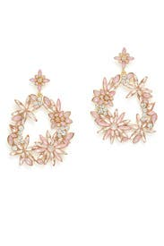 Crystal Wreath Earrings by Slate & Willow Accessories