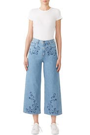 Embroidered Caron Flare Jeans by M.i.h. Jeans