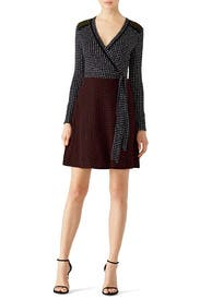 Mixed Dot Print Wrap Dress by Diane von Furstenberg