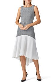Belted High Low Dress by Slate & Willow
