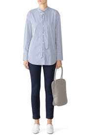 Weekender Tie Neck Top by Theory
