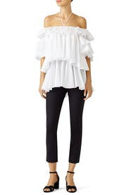 White Ruffled Top by Tome