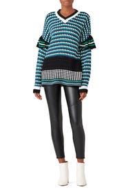 Retro Checkered Sweater by MSGM