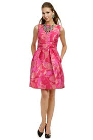 Fuchsia Palm Party Dress by Theia