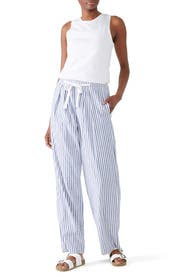 Space Dye Striped Wide Leg Pants by VINCE.