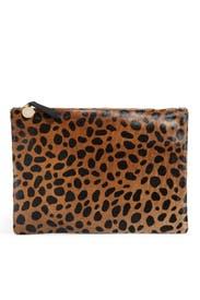 Saharan Leopard Clutch by Clare V.