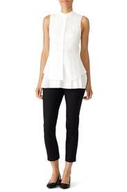 White Peplum Shirt by Derek Lam 10 Crosby