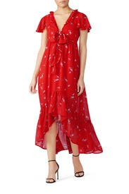 Pradera High Low Midi Dress by Line + Dot