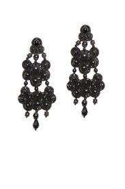Black Beaded Earrings by Tory Burch Accessories