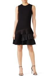 Asymmetric Pleat Dress by Victoria Victoria Beckham