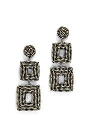 Double Square Earrings by Kenneth Jay Lane