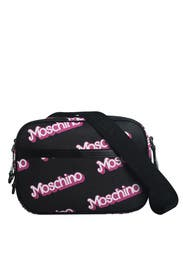 Black Think Pink Bag by Moschino Accessories