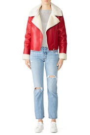 Non Denim Faux Leather Jacket by BlankNYC