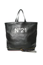 Black Foldable Shopper Bag by No. 21 Handbags