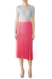 Pleated Knit Skirt by Derek Lam 10 Crosby