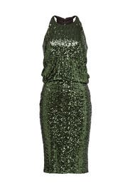 Evergreen Sequin Dress By Badgley Mischka For 55 65