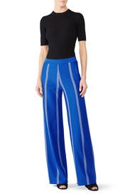 Striped Wide Leg Track Pants by Tory Sport