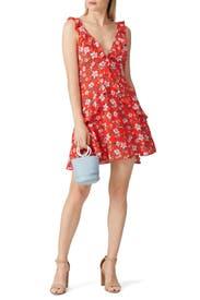 Tie Back V-Neck Dress by Louna