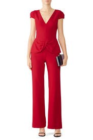 Red Harlow Jumpsuit by Black Halo