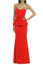 Rouge Rosalind Peplum Gown by Badgley Mischka