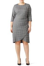 Faux Wrap Plaid Dress by ELOQUII