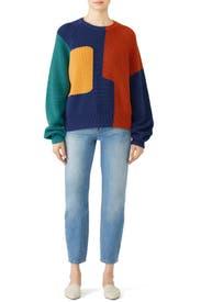 Colorblock Avery Sweater by Mara Hoffman