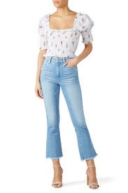 Collete Crop Flare Jeans by PAIGE