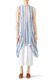 Blue Striped Tunic by Tome
