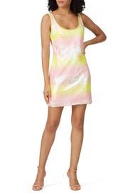 Ombre Sequin Mini Dress by NAEEM KHAN