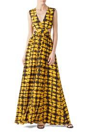 Yellow Tie Dye Maxi by Proenza Schouler