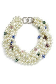 White Pearl Necklace by Kenneth Jay Lane