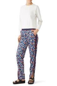 Navy Floral Track Pants by rag & bone