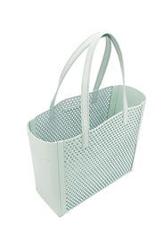 Mint Perforated Open Tote by Loeffler Randall