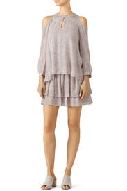 Blush Printed Cold Shoulder Dress by Derek Lam 10 Crosby